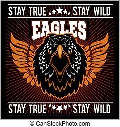 Eagle head logo Template, Hawk mascot graphic