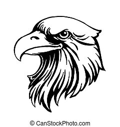 eagle head logo template hawk mascot graphic portrait of a bald