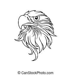Eagle head logo Template, Hawk mascot graphic, Portrait of a...