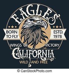 Eagle head logo vector - Eagle head logo for t-shirt, Hawk...