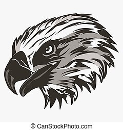 Eagle head logo vector - Eagle head logo Template, Hawk...