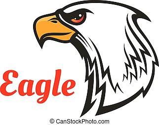 Eagle head mascot for sporting design