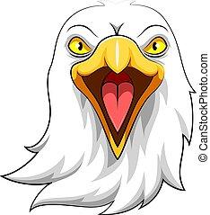 Eagle Head Mascot Illustration