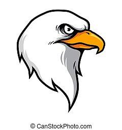 Eagle Head Mascot Illustration Vector in Cartoon Style