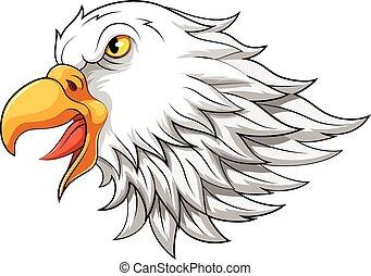 Eagle head mascot in cartoon