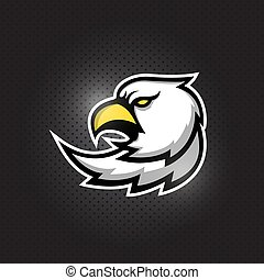 Eagle head mascot logo design
