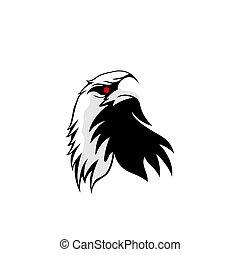Eagle head mascot logo design