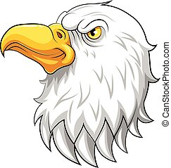eagle head mascot on a white background
