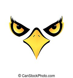 eagle head on white background vector icon