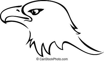 Eagle head silhouette logo