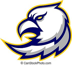 eagle head sport gaming logo vector badges emblem