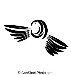 Eagle Head Tattoo Design. Logo Prey Bird