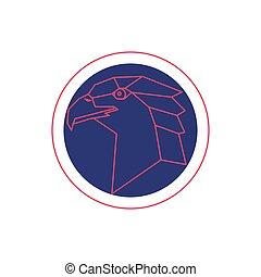 Eagle head. Vector illustration