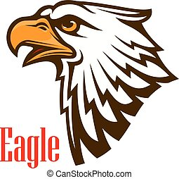 Eagle head vector outline emblem