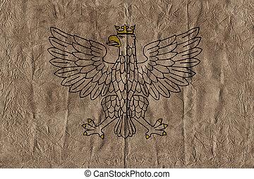 eagle heraldic design old paper