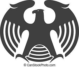 Eagle heraldic silhouette