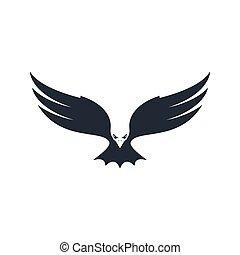 Eagle hunting, negative space, vector illustration