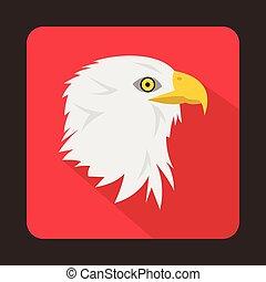 Eagle icon, flat style