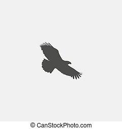 Eagle icon in a flat design in black color. Vector...