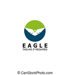 Eagle icon logo design inspiration vector template