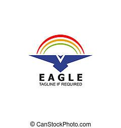 Eagle icon logo design inspiration vector template