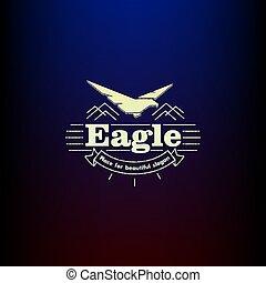eagle., icon., vintage., vector.