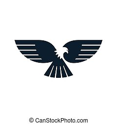 Eagle icon with spread wings