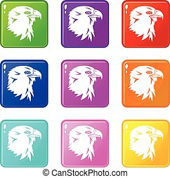 Eagle icons 9 set
