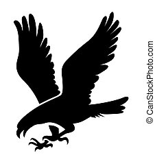 Eagle illustration - Eagle symbol, emblem design, attacking...