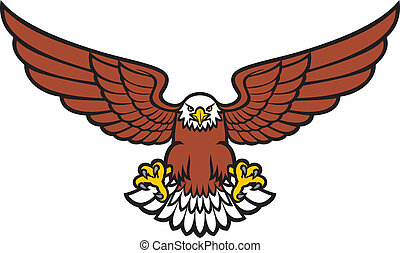 eagle stock illustrations 27 441 eagle clip art images and royalty rh canstockphoto com flying eagle images clip art free flying eagle clipart