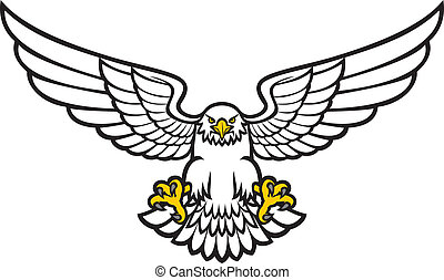 eagle stock illustrations 26 116 eagle clip art images and royalty rh canstockphoto com clip art eagle flying clip art eagles logo