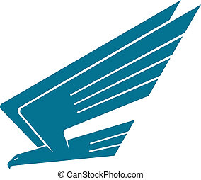 Eagle in flight - Silhoutte vector illustration of an eagle...