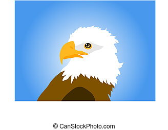 eagle isolated on blue background