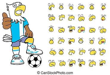eagle kid soccer cartoon set1