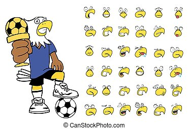 eagle kid soccer cartoon set10