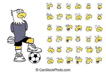 eagle kid soccer cartoon set11