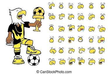 eagle kid soccer cartoon set12