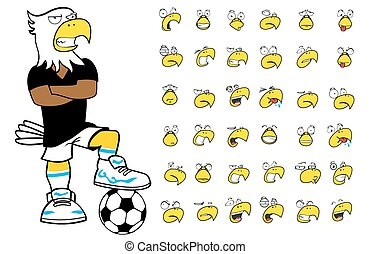 eagle kid soccer cartoon set2