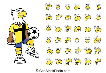 eagle kid soccer cartoon set3