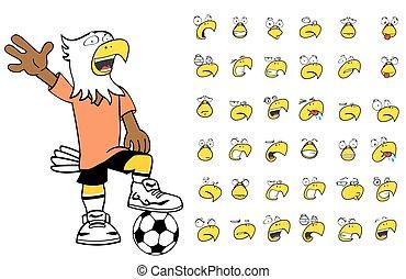 eagle kid soccer cartoon set6