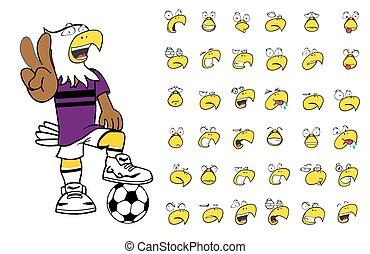 eagle kid soccer cartoon set7