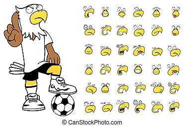 eagle kid soccer cartoon set8