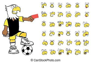 eagle kid soccer cartoon set9