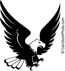 vector image of eagle landing design isolated on white background