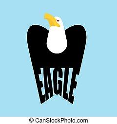 Eagle logo. falcon  Emblem of a bird of prey. Hawk sign