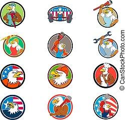 Eagle-mascot-CIRC-CARTOON-SET