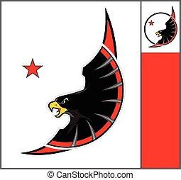 Eagle. Mascot Eagle.