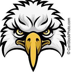 Eagle Mascot Face
