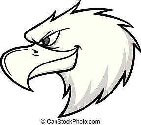 Eagle Mascot Head Illustration