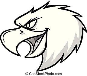 Eagle Mascot Scream Illustration